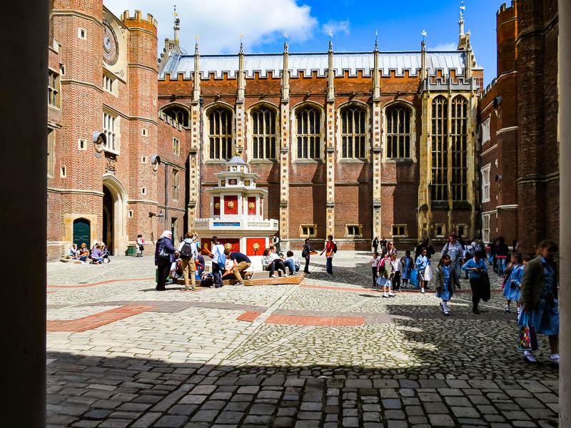 Courtyard at Hampton Court Palace