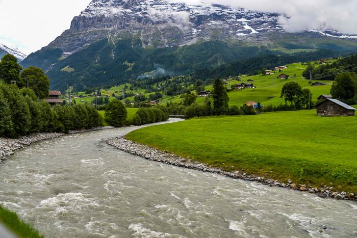 Fast moving Swiss stream
