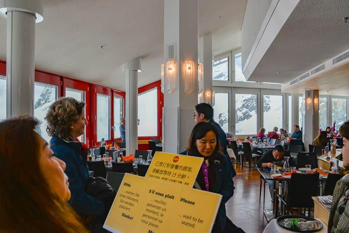 Restaurant at the Jungfraujoch