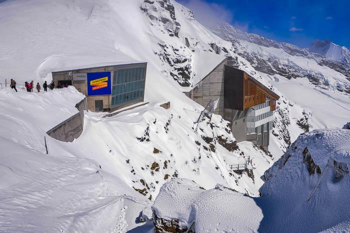 Outside the Jungfraujoch