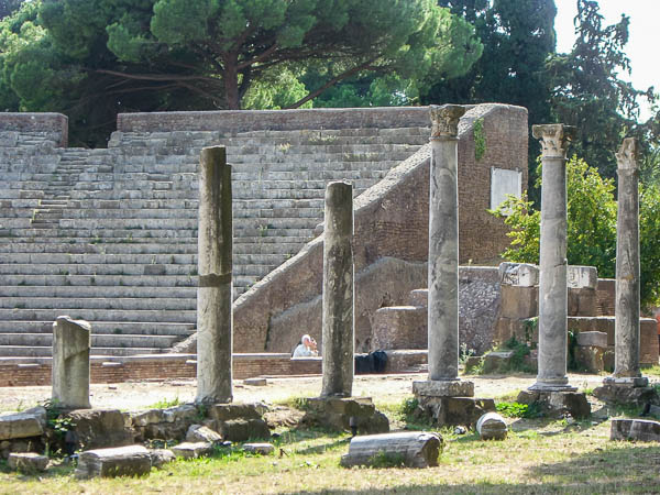 Ostia Antica side view of theater
