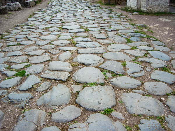 A road leading to Ostia Antica