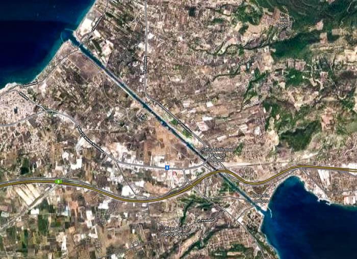 Corinth Canal Map