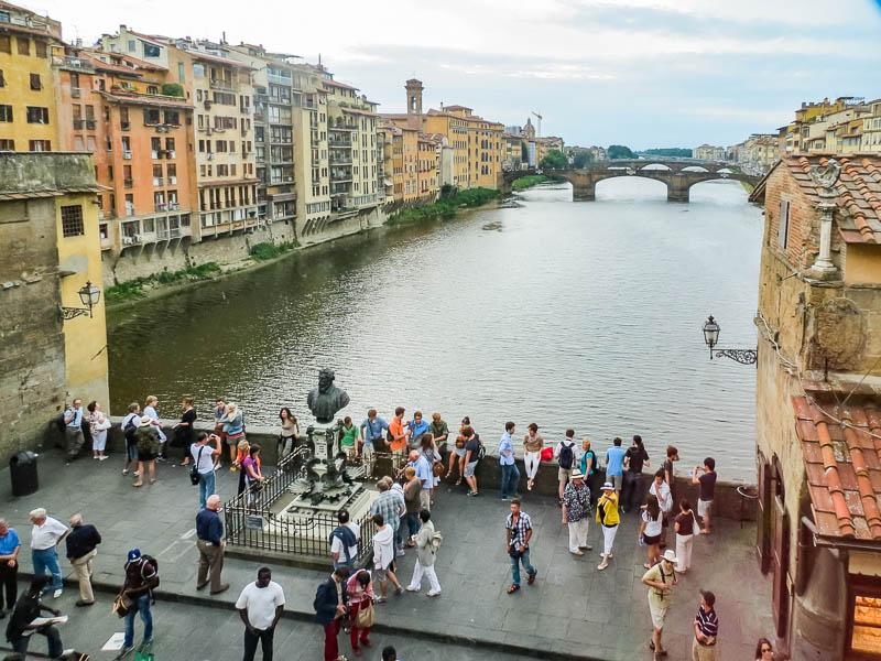 Vasari Corridor Arno River View