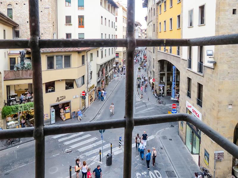 Vasari Corridor window with bars